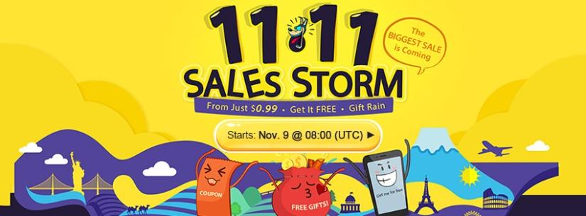 Double 11 Sales Storm – wielka wyprzedaż wGearbest